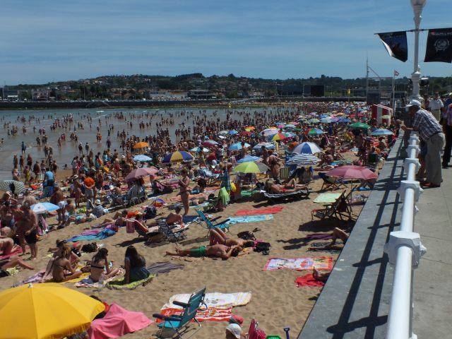playa de San Lorenzo en Gijon
