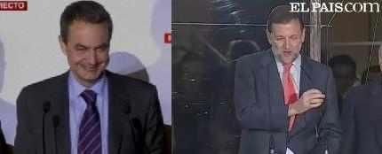 Zapatero y Rajoy,montaje