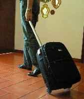 rodando la maleta