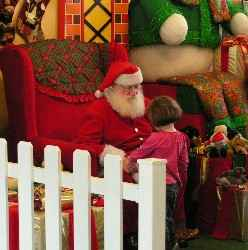 niño y Santa Claus