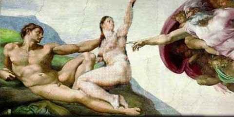 creación del hombre y la mujer
