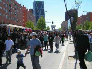 Mercadillo en Madrid