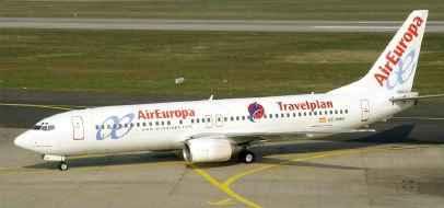 jet de la línea Air Europa