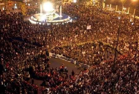 Marcha contra el terrorismo, en Madrid