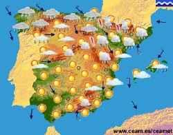 mapa meteorologico de espana