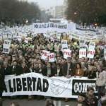 Manifestación contra el terrorismo