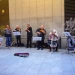 Esos músicos callejeros