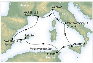 itinerario de un crucero