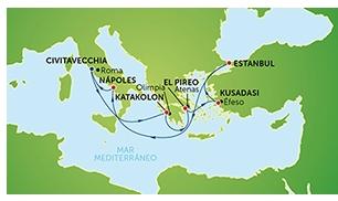 ruta crucero Norwegian Jade