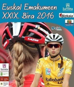 cartel de carrera ciclista femenina