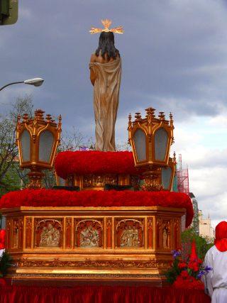 cristo en procesion de semanasanta
